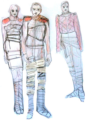 Katja Brunner- Aendere den Aggregatzustand deiner trauer-Entwurf Kostüm 1