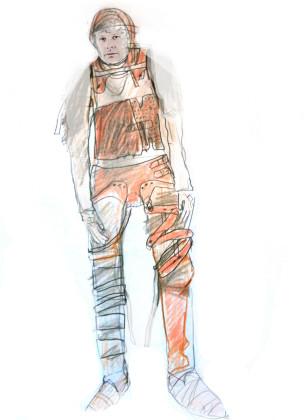 Katja Brunner- Aendere den Aggregatzustand deiner trauer-Entwurf Kostüm 2