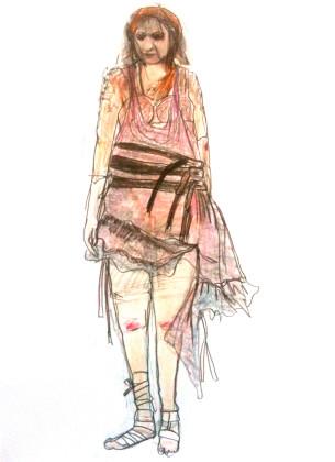 Katja Brunner- Aendere den Aggregatzustand deiner trauer-Entwurf Kostüm