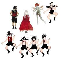 Kostümbild Silvana Arnold-Der Teufel mit den drei goldenen Haaren 6- Kostümbild- Entwurf